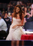 Eva Mendes shows cleavage in white dress at Spike TV's 2nd Annual Guys Choice Awards
